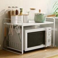 Kitchen Shelves Microwave Oven Shelf Multilayer Floor type Household Province Space Storage Put Pot Oven Storage Shelf