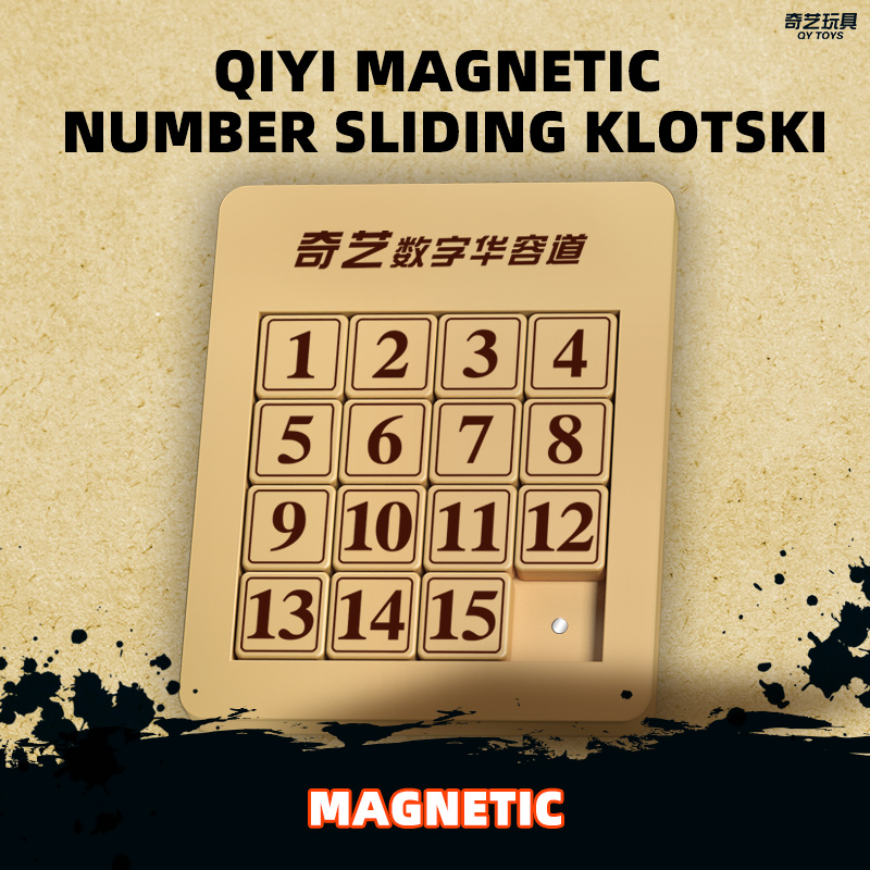 Qiyi Magnetic Number Sliding Klotski And The Three Kingdom Klotski Educational Toys Puzzle Creative Interactive Toys Kids Gifts