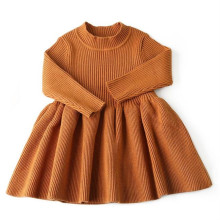 цены 2019 Autumn Fashion Baby Girls Knitting Long Sleeve Dress Girls Clothes Baby Clothing Winter Girls Outerwear Kids Long Sweater