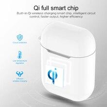 Беспроводной зарядный чехол Qi, Bluetooth-гарнитура, зарядное устройство, беспроводное зарядное устройство, зарядное устройство для наушников, з...