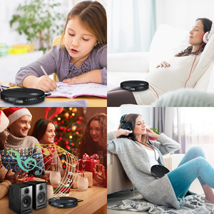 Image 5 - Portable CD Player with Earphones HiFi Music Compact Walkman Player Reproductor CD Anti Shock Personal Car Music Disc Player