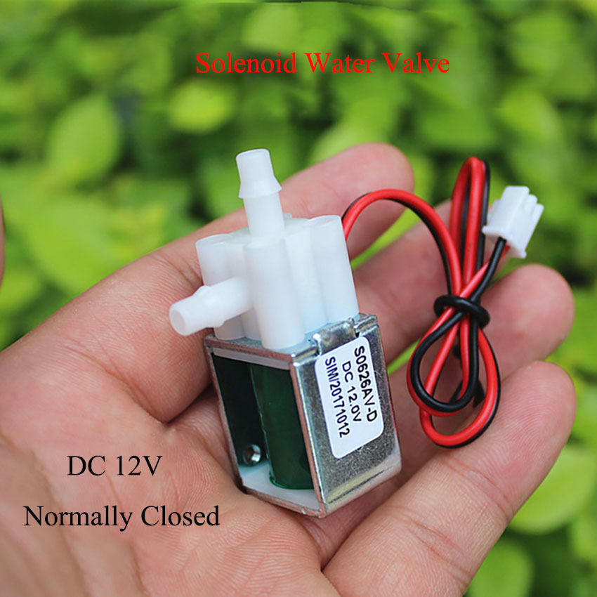 Miniature Solenoid Valve Solenoid Valve Normally Closed DC 12V Electric Vent Valve For Garden Watering