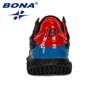 Image 3 - BONA 2019 새로운 디자이너 남자 신발 편안한 야외 캐주얼 남자 신발 레이스 업 쿠션 스 니 커 즈 남성 레저 신발 유행