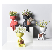 Man Face flower vase home decoration accessories modern ceramic for Flowers Pot planters