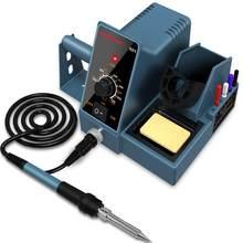 Estação de solda de temperatura constante de hanmatek sd1 anti-estática ajustável temperatura reparo doméstico conjunto de ferramentas de solda 60w