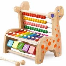 Дети деревянный стук пианино Многофункциональный олень бисера калькулятор ксилофон головоломка для раннего обучения Детские развивающие игрушки