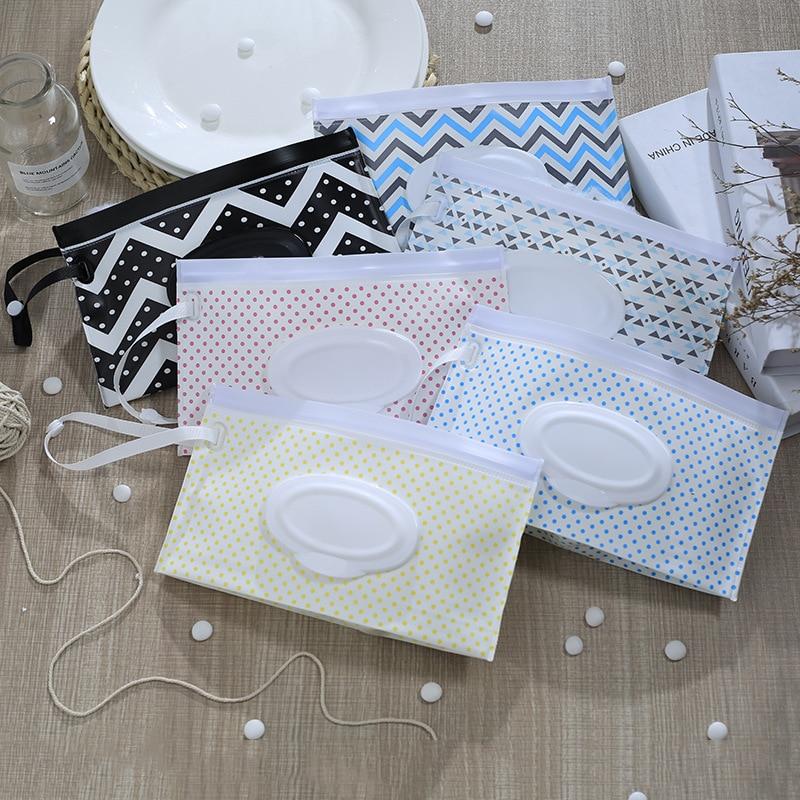 1 шт., легко переносные салфетки с защелкой, контейнер, клатч и чистые салфетки, чехол для переноски, влажные салфетки, сумка-раскладушка, косметичка - Цвет: random 1pc