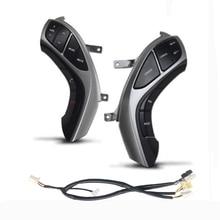 อุปกรณ์เสริมบลูทูธ Call ความเร็วคงที่ Cruise ดัดแปลง Multi functional พวงมาลัยปุ่มสวิทช์สำหรับ Hyundai Elantra