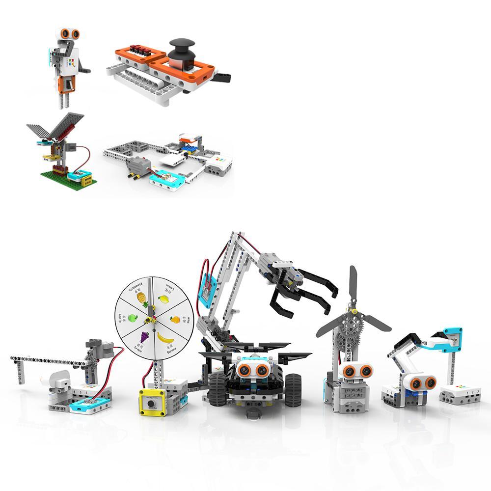 590 шт царапины Программирование строительные блоки робота автомобиля образовательные паровые высокотехнологичные игрушки подарок для