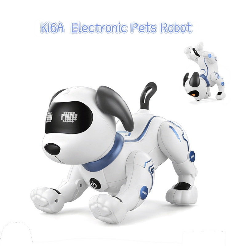 LE NENG TOYS K16A Electronic Animal Pets Robot Dog RC Stunt Dog Voice Command Programmable Music Song Toy for Kids Toys Gift