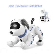 LE NENG TOYS K16A Electronic Animal Pets Robot Dog RC Stunt Dog Voice Command Programmable Music Song Toy for Kids Toys Gift(China)