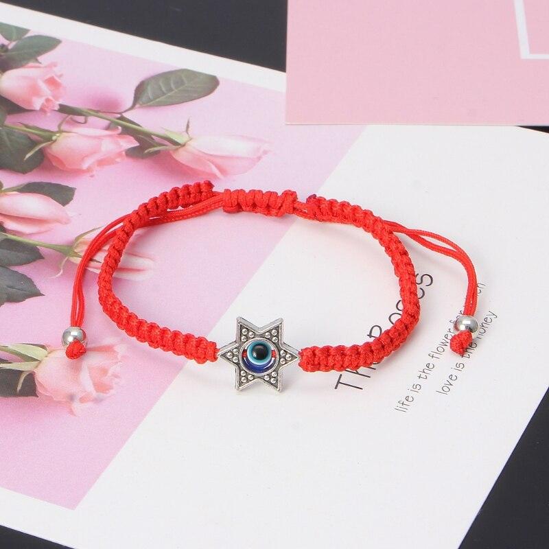 Lucky Kabbalah Red String Thread Hamsa Bracelets Blue Turkish Evil Eye Charm Women Handmade Fatima Friendship Jewelry 6