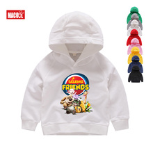 Kids White Hoodies Sweatshirts Favorite Online Games Can Speak Tom Cat Prints Boy and His Friends