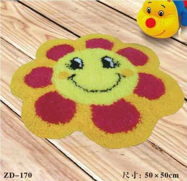 ひまわりラッチフック敷物キットかぎ針壁タペストリー糸ソファクッションセット刺繍カーペット家の装飾床マット