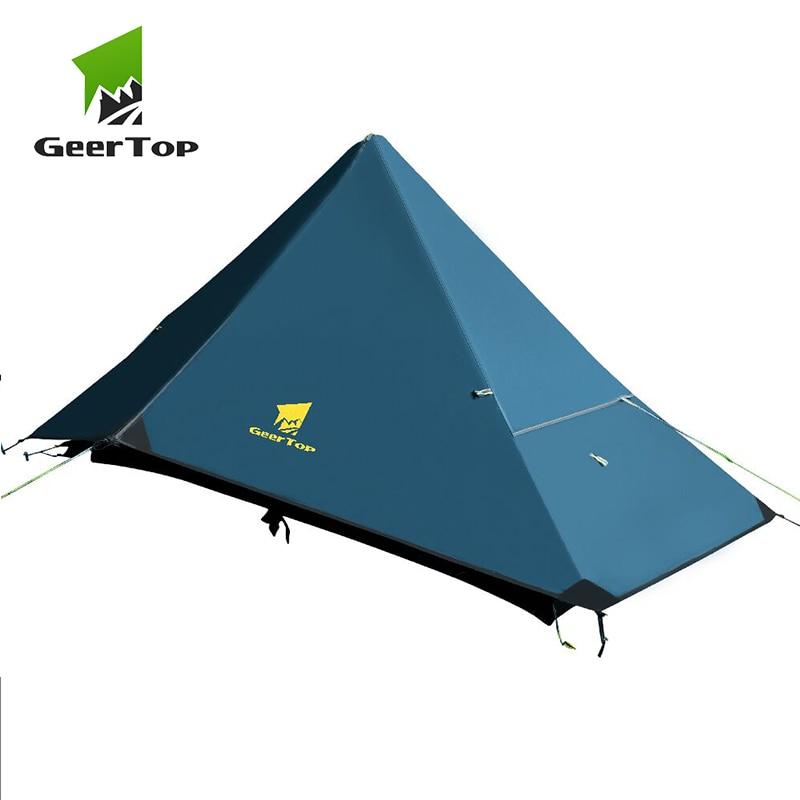geertop ultraleve barraca de acampamento uma pessoa quatro temporada a prova dwaterproof agua sem polos tendas