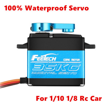 2020 New 100% Waterproof servo 20KG 25KG 35KG high speed metal gear digital RC Car servo baja servo 25T Arm for 1/8 1/10 RC Cars