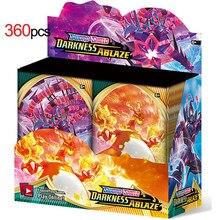 360 pçs engraçado inglês pokemon cartões gx mega brilhante cartas jogo batalha carte kaarten crianças brinquedo