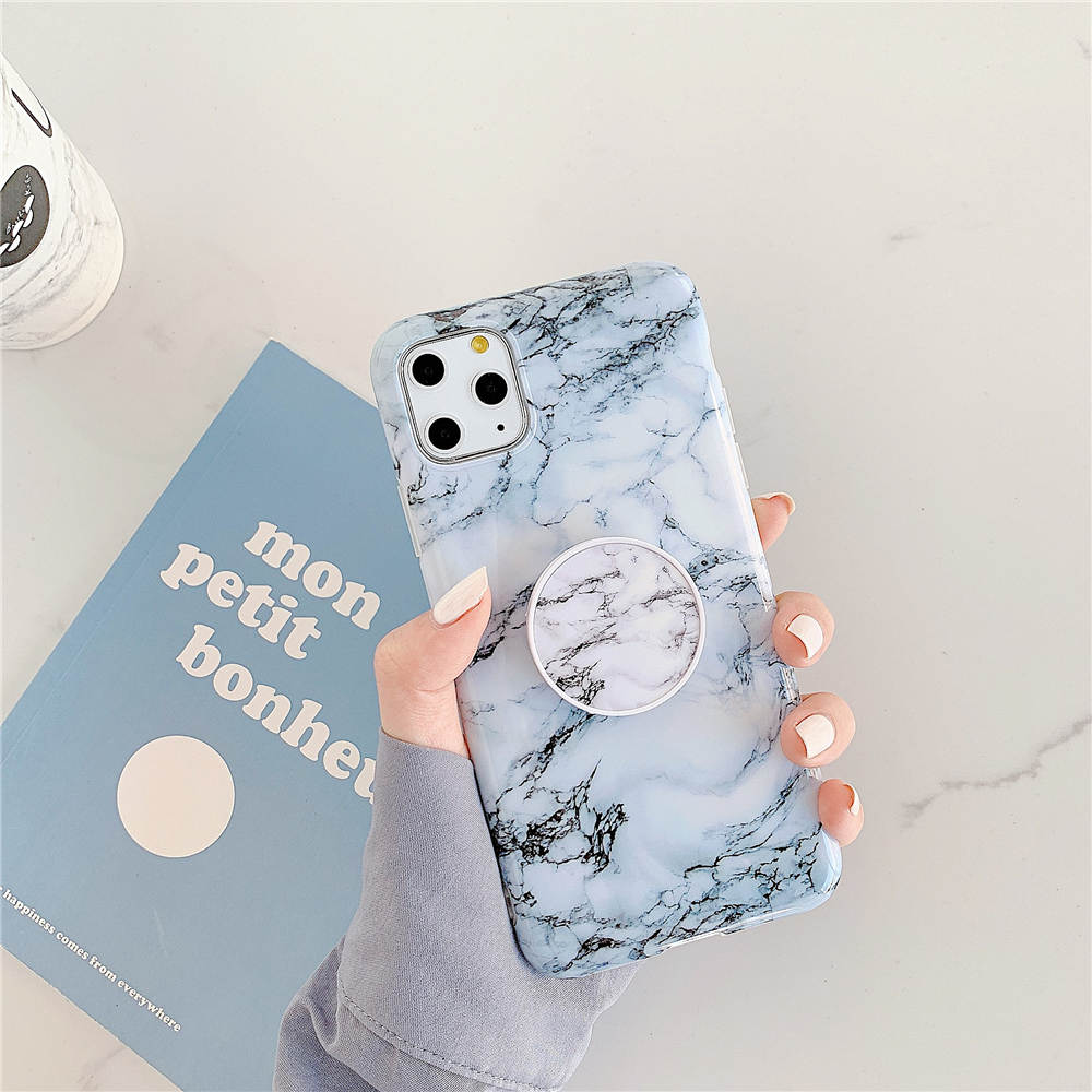 Luxury Marble Stand Phone Back Cover Shell For iPhone 11 Pro X XR XS Max 7 8 6 6S 22