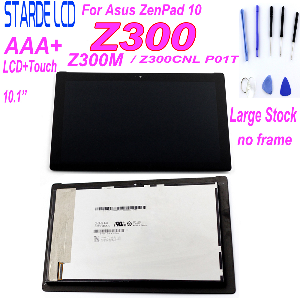 For Asus ZenPad 10 Z300M P00C Z300CNL P01T LCD Display Touch Screen Assembly 10.1'' Repair Parts Replacement With Free Tools