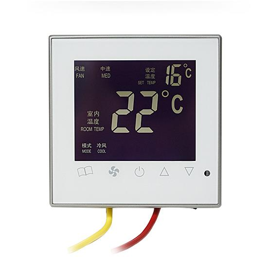 Central Air Conditioning Thermostat With Remote Control Temperature Control Touch Screen Fan Coil Intelligent Controller