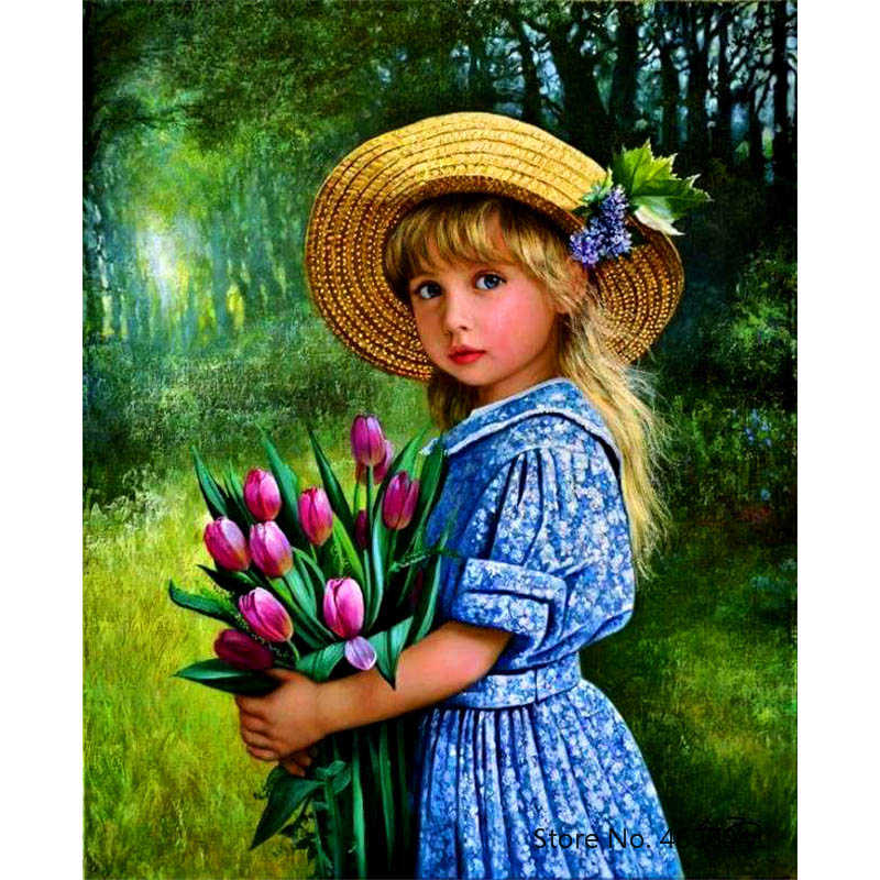Painting By Numbers Frameworks Coloring By Numbers Home Decor Pictures Figure Painting Decorations RSB8130