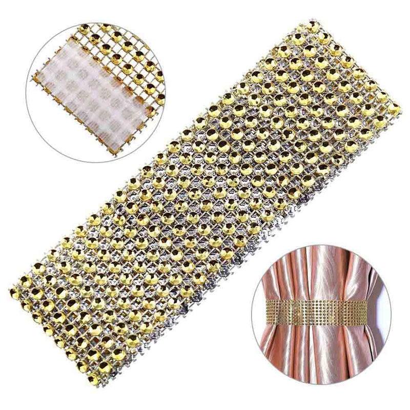 Ventana de Diamante lazo de cristal respaldo de Diamante servilleteros para boda servilletas cortinas de decoración lazo de cristal espalda Tiebacks Holdbacks