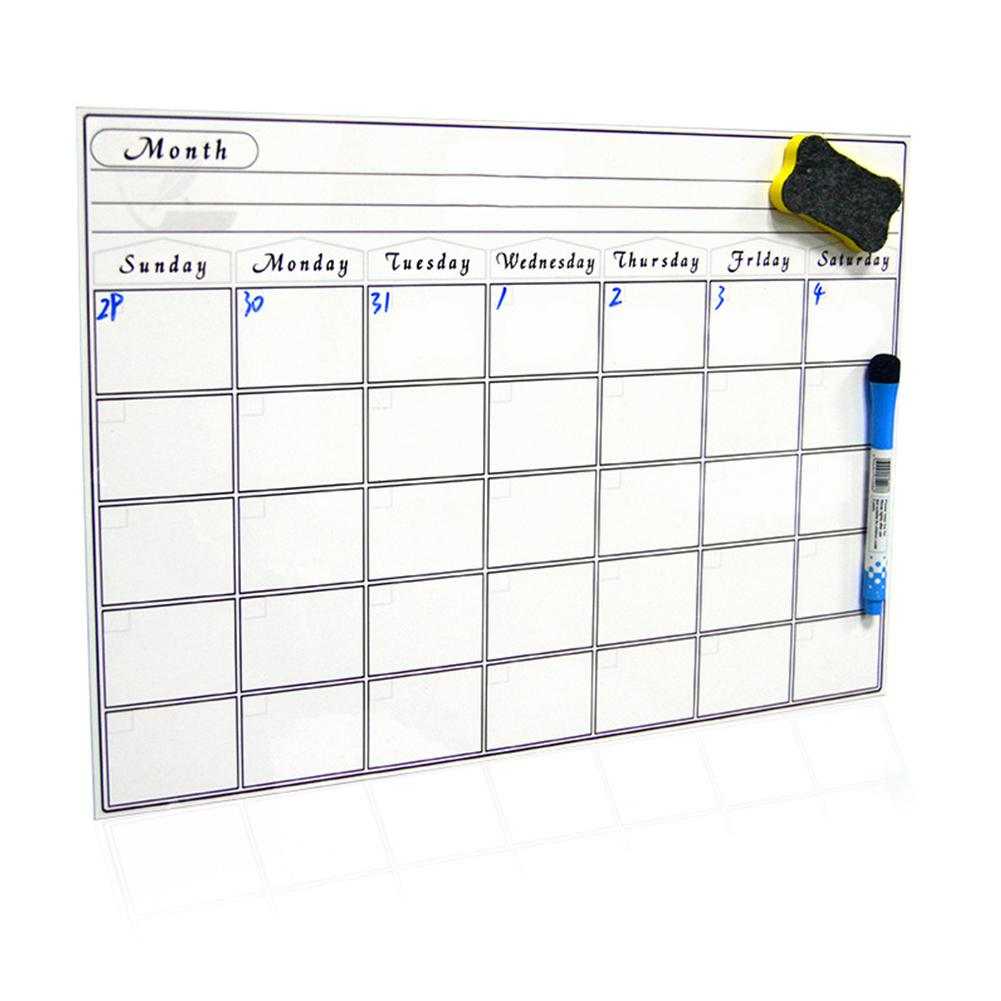 Magnetic Board A3 30*42cm Soft Magnetic WhiteBoard Erase Drawing Recording Board For Fridge