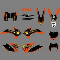 motorcycle accessories For KTM EXC XCW XCF-W 2014 2015 2016 Graphics Decals Stickers Custom Number Name 3M Full  Motorcycle Backgrounds  Accessories (1)