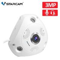 Vstarcam 3MP IP камера 360 градусов панорамная Wi-Fi камера рыбий глаз 3D камера наблюдения безопасности ИК ночного видения двухсторонний домофон