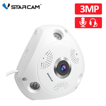 цена на Vstarcam 3MP IP Camera 360 Degree Panoramic Wifi Camera FIsheye 3D Surveillance Security Camera IR Night Vision Two way intercom