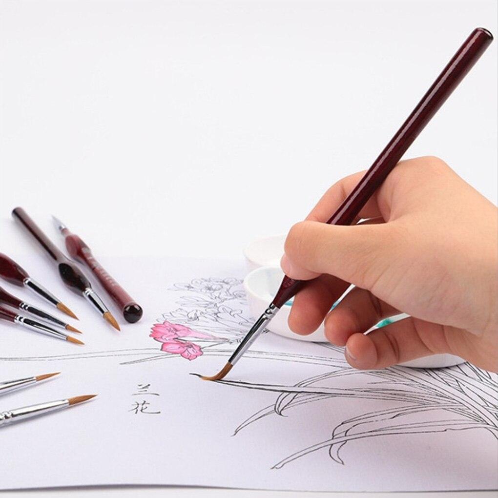 Paint Brush Set Nail Art Painting Liner Drawing Brushes Nail Painting Wooden Handle Pens