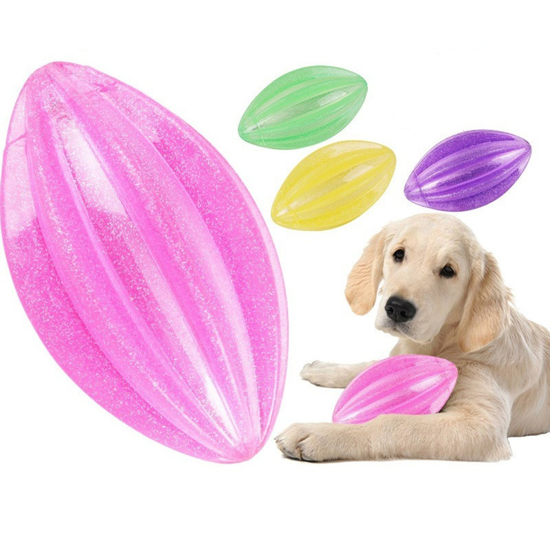 Pet Dog Puppy Toys Elasticity Ball Flashing Chew Toy Tooth Clean Train Extra-tough Popular Toy Large Small Dogs Supplies Petshop