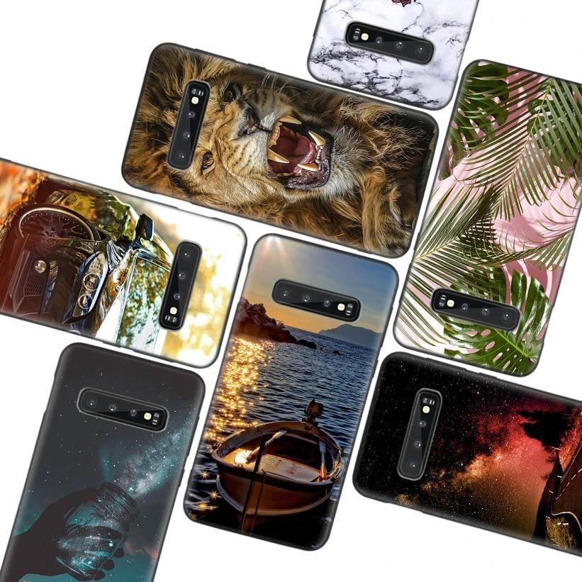 Hd Wallpaper Estetika Hitam Case Untuk Samsung Galaxy A51 A71 A50s A10 A20e A30 A40 A50 A70 M30s A41 A11 A01 A21 Penutup Telepon Setengah Dibungkus Kasus Aliexpress