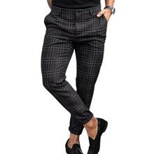 Pant Plaid Printed Fashionable Men Full Length Trouser for Leisure Time Men Pants Fit Casual Pants Full Length Loose Pants Cargo