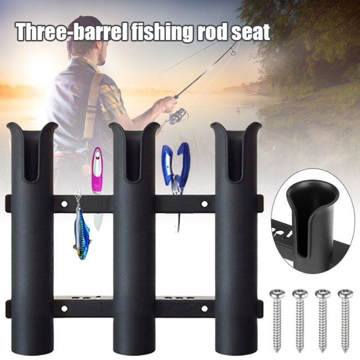 Plástico 3 tubo vara de pesca titular