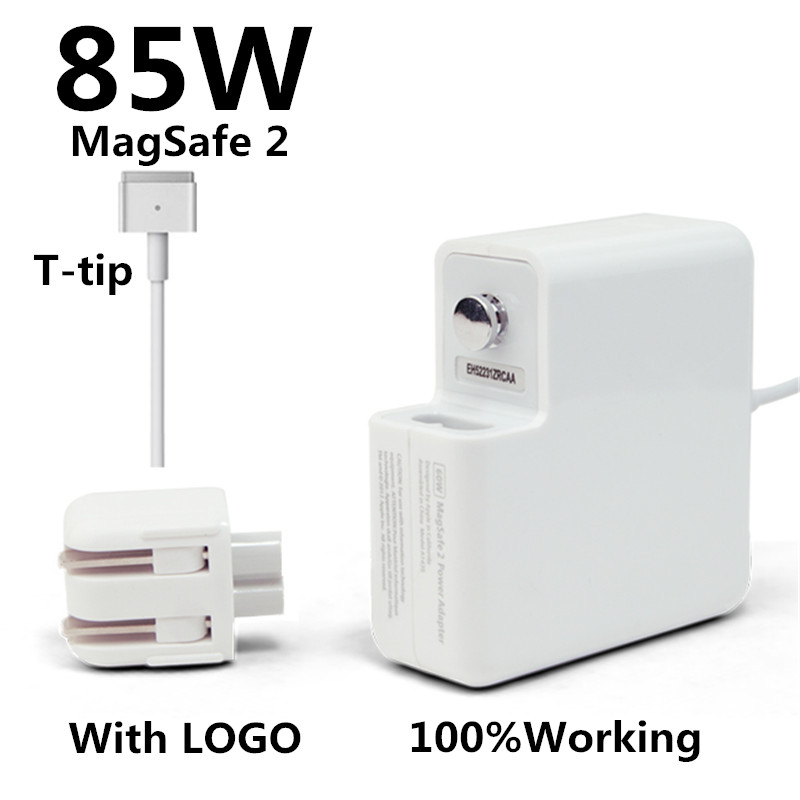 New! with logo oem t-tip 85w laptop magsaf* 2 power adapter charger for apple macbook pro retina 15'' 17'' a1398 a1424