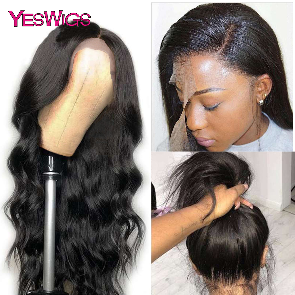 Yeswigs Body Wave Wig 13x6 Lace Front Human Hair Wigs 13x4 Glueless  Remy Mongolian Transparent Lace Wigs For Black Women