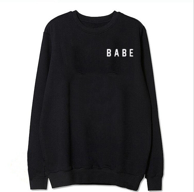 Babe Hoodies Sweatshirts EuropeTops 2020 Women Casual Kawaii Harajuku Kpop Sweat Punk For Girls Clothing Korean