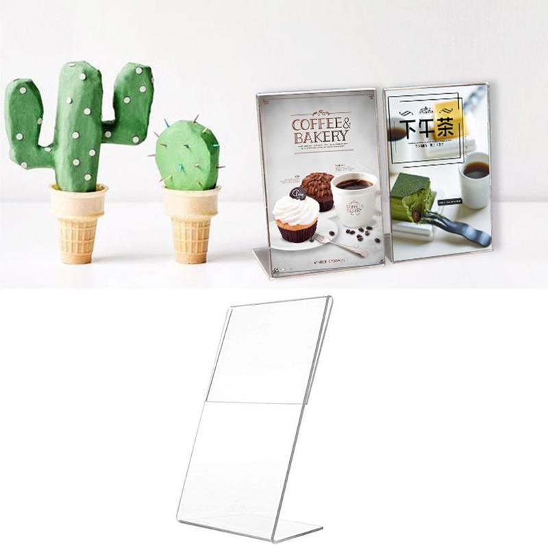 A6 Transparent Acrylic Display Stand Desk Shelf Box Display Card Office Accessories Business Stand Desktop Holder Storage E2S5