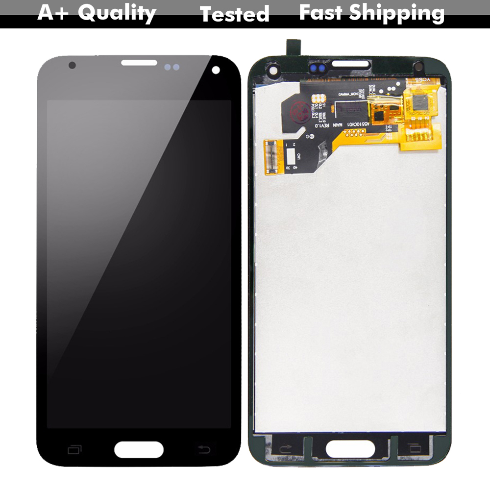 100% Tested LCD For SAMSUNG Galaxy S5 I9600 G900 G900F G900A LCD Digitizer Touch Screen Panel Assembly + Free Tools