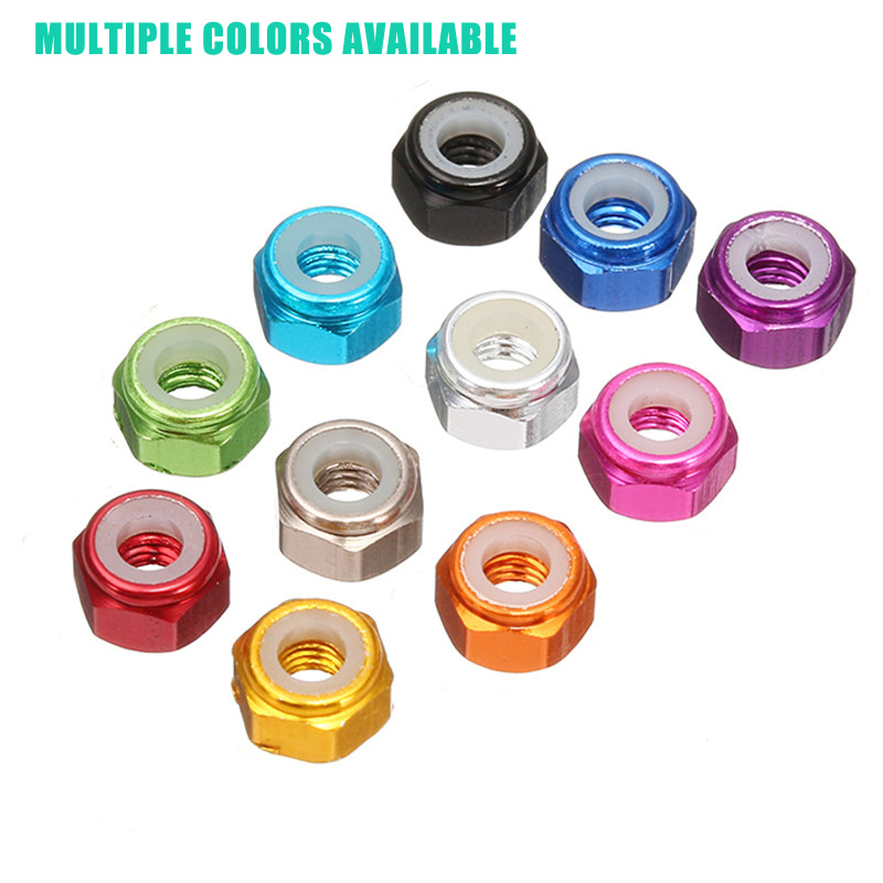 In Stock! Taiwei 5Pcs M2 Self-locking Nylon Nut For RC Flytower Aluminum Alloy Multi Rotor Parts For FPV Racing RC Drone