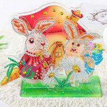 Детская 5d картина из акриловых страз стразы мультяшный кролик