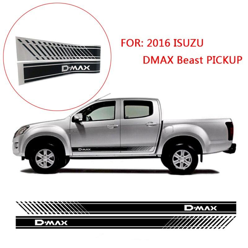 2pcs Gradient Door Decal Sticker Side Graphic For 2016 ISUZU DMAX Beast PICKUP