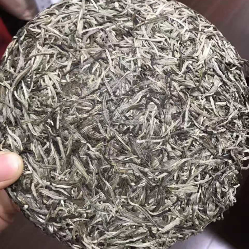 Fujian Old Fuding White Chinese Tea Cake Natural Organic White Chinese Tea Silver Needle Bai Hao Yin Zhen Tea 300g