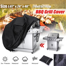 Grill-Cover Bbq-Cover-Accessories Black Waterproof Rain Charcoal Snow-Gas Barbeque Anti-Dust