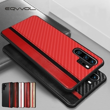 Eqvvol Business PU Leather Case For Huawei Mate 20 Pro P30 Lite Luxury Carbon Fiber Splice Capa Coque For Huawei P20 Pro Cover