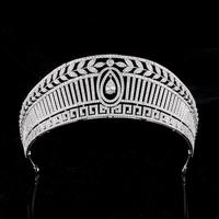 Queen Princess Zirconia Tiara Crown AAA Zircon Diadem Women Bride Headband Evening Dress Wedding Hair Accessories Bridal Jewelry
