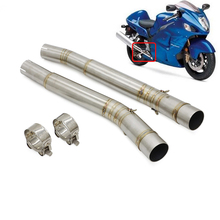 Motorcycle Middle Exhaust Pipe Middle Mid Link For Suzuki Hayabusa GSX1300R GSXR1300 Hayabusa 2008   2017