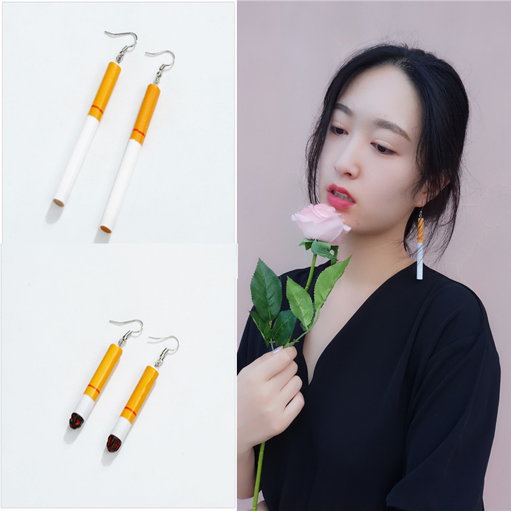 Fashion Creativity Earrings Cigarette Butts Earrings Restoring Ancient Ways Gout Contracted Girl Dangle Earring For Women