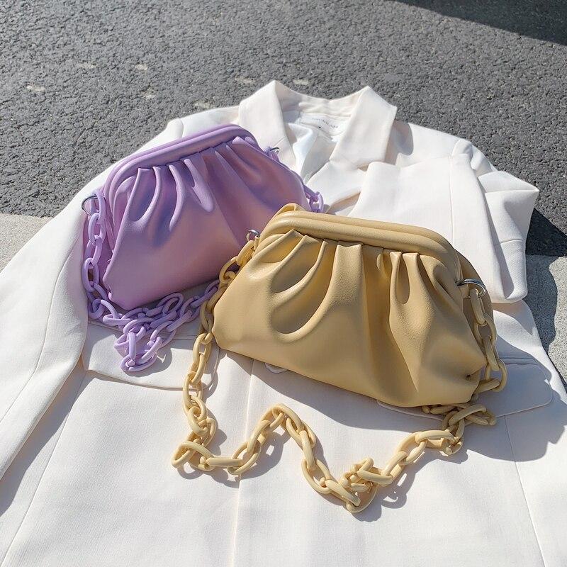 Candy Color Cloud Cross Bags For Women 2020 Summer Cute Shoulder Messenger Bag Chain Design Lady Crossbody Handbags And Purses